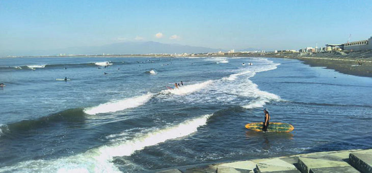 台風が残した最後の波